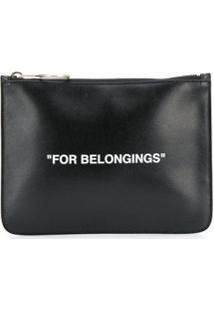 Off-White Clutch Quote - Preto