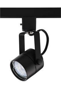 Spot Trilho De Metal Pharos 16Cmx6Cmbella Iluminação - Caixa Com 2 Unidade - Preto