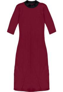 Vestido Malha Costine Malaga Vermelho
