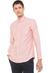 Camisa Lacoste Regular Lisa Laranja