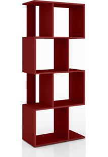 Estante/ Rack Retrô Móvel Bento Vermelho - Tricae