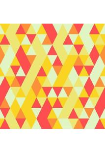 Papel De Parede Adesivo Geométrico Amarelo (0,58M X 2,50M)