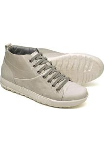 Sapatênis Cano Alto Top Franca Shoes Masculino - Masculino-Bege