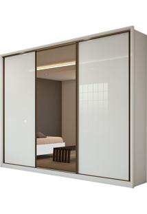 Guarda Roupa Spazio 3 Portas Glass Branco