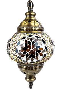 Luminária Pendente Em Mosaico Color