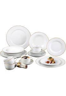 Aparelho De Jantar Sanxia Estampado 20 Peças 3444 Branco