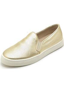 Tenis Hiate Top Franca Shoes World Feminino - Feminino-Ouro