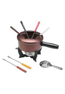 Conjunto Para Fondue 10 Peças Brinox Chocolate 1255/116 Brinox