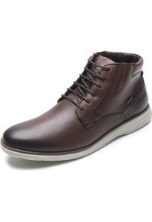 Sapato Couro Ferracini Liso Marrom