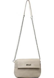 Bolsa Em Couro Recuo Fashion Bag Transversal Cacau
