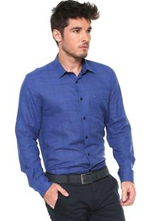 Camisa Aramis Reta Xadrez Azul