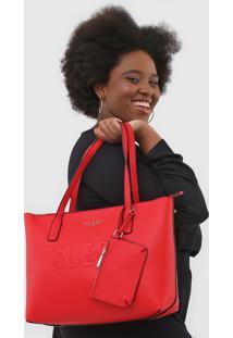 Bolsa Guess Com Porta-Moeda Vermelha - Vermelho - Feminino - Dafiti