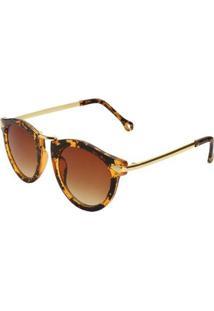 Óculos Ray Flector Piccadilly Circus Vgt512Co - Feminino-Dourado+Marrom