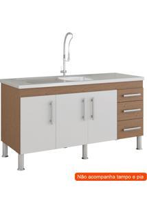 Balcão De Cozinha Flex 3 Pt 3 Gv Amêndoa E Branco