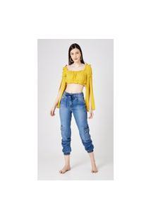 Calça Jeans Express Jogger Mel Azul