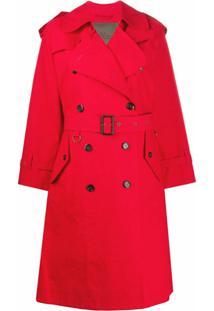 Marc Jacobs Trench Coat Com Abotoamento Duplo - Vermelho
