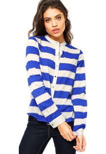 Camisa Manga Longa Ellus Stripes Cinza