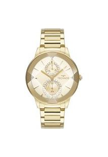 Relógio Technos Feminino Crystal Analógico Dourado 6P73Af1X