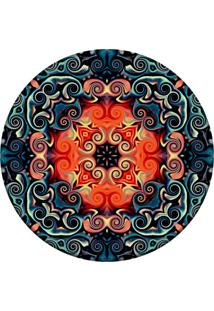 Tapete Love Decor Redondo Wevans Mosaic Oriental Multicolorido 94Cm