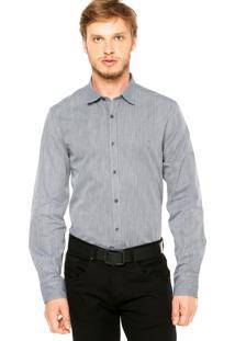 Camisa Aramis Slim Geo Azul