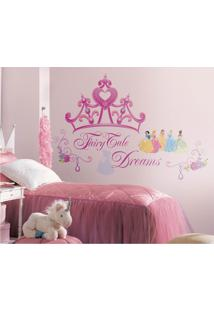 Adesivos De Parede Roommates Colorido Disney Princess - Princess Crown Peel & Stick Giant Wall Decal