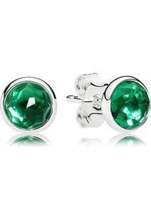 Brinco Gota De Cristal Verde - Maio