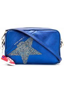 Golden Goose Bolsa Transversal Star - Azul