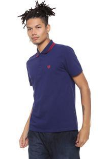 Camisa Polo Cavalera Botões Azul-Marinho