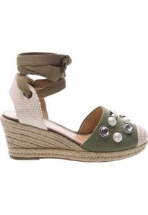 Sandália Espadrille Glam Stones Green | Schutz