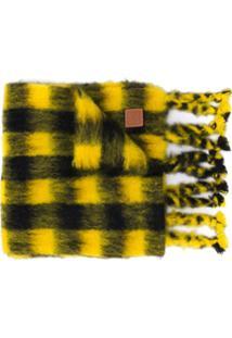 Loewe Cachecol Com Estampa Xadrez - Amarelo