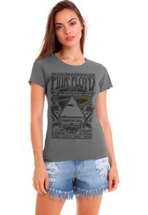 Camiseta Estonada Joss Estampada Pink Floyd 1972 Black Chumbo