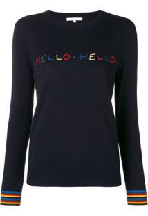Chinti & Parker Suéter Com Slogan - Azul