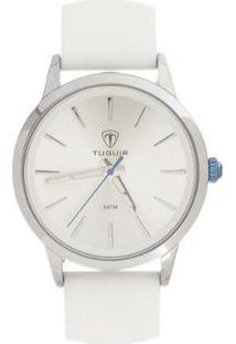 Relógio Tuguir Analógico Tg106 Feminino - Feminino-Prata+Branco