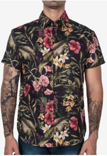 Camisa Tropical Preta 200309
