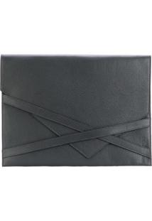Eleventy Bolsa Para Notebook De Couro - Preto