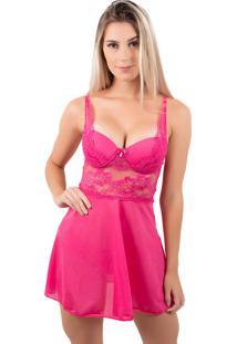 Camisola Bella Fiore Modas Com Bojo Em Tecido Canelado Rosa