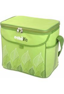 Bolsa Térmica Echolife Green 5 Litros Com Alça Ajustável - Unissex
