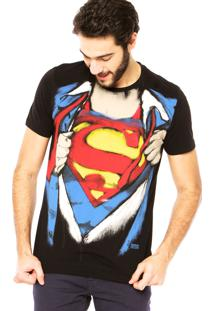 Camiseta Fashion Comics Superman Preta