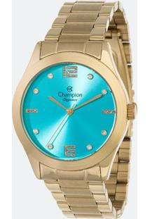 Kit Relógio Feminino Champion Cn25145Y Analógico 5Atm + Conjunto Semijóia