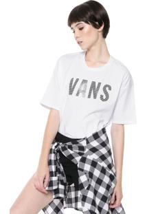 Camiseta Vans Oversized S Wm Streaked Branca