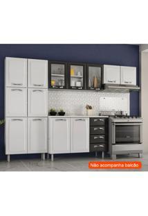 Cozinha Compacta Premium Iii 11 Pt Branca E Preta
