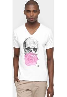 Camiseta Sergio K. Caveira Flor - Masculino