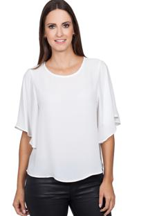 Blusa Love Poetry Babados Offwhite