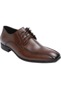 Sapato Social Em Couro Com Pespontos- Marromuomini Classici