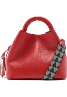 Nelly Mini Bucket Triangle Red | Schutz