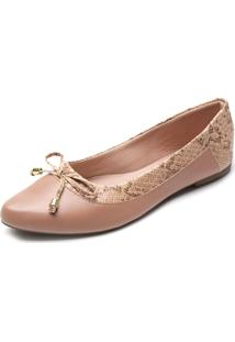 Sapatilha Dafiti Shoes Cobra Nude