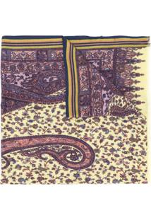 Etro Echarpe Com Estampa Paisley - Amarelo