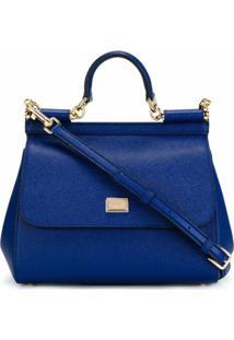 Dolce & Gabbana Bolsa Tote Sicily Média - Azul