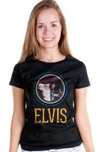 Camiseta Bandup Elvis Presley Furious Preto