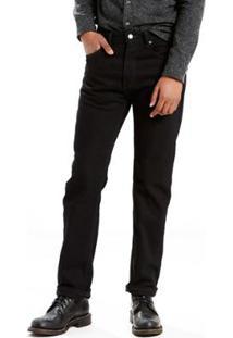 Calça Jeans Levis 505 Regular Big & Tall - Masculino-Preto